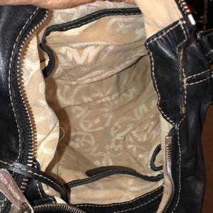 Michael Kors Black Leather Shoulder Bag Good Cond
